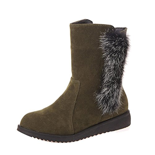 Gbsell Moda Mujeres Invierno Zapatos Pretty Warm Botines (7.5, Verde)