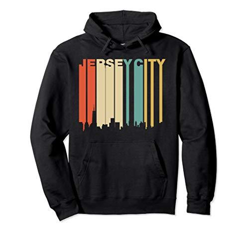 1970 Jersey Retro (Retro 1970's Style Jersey City New Jersey Skyline Hoodie)
