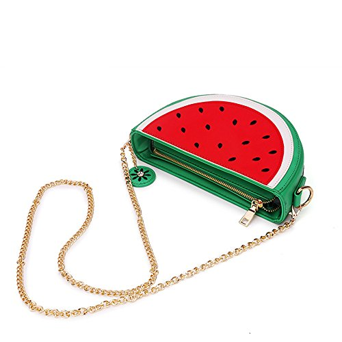 Latest Novelty Cute Watermelon Shape Shoulder Mini Bag for Women Photo #3