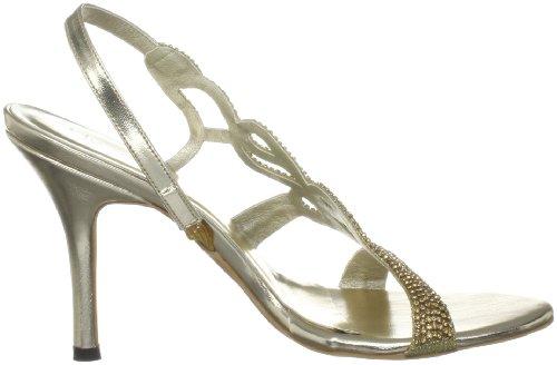 Unze Evening Sandals L18181W - Sandalias para mujer Dorado