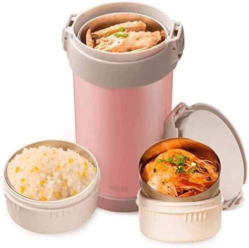 真空断熱スープフラスコのために子供の大人のホットフードジャーステンレス魔法瓶ランチコンテナのオフィス学校は、食品ホットコールドを暖かく保ちます