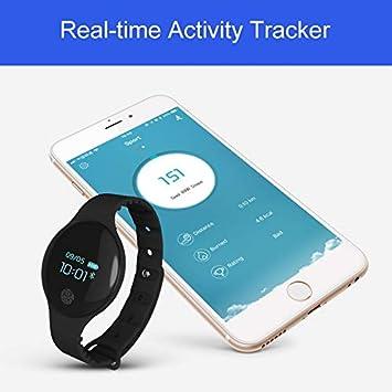 KDSFJIKUYB Pulsera de Actividad Bluetooth Reloj Inteligente ...