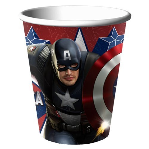 Captain America 9oz Hot/Cold Cups (8ct) ()