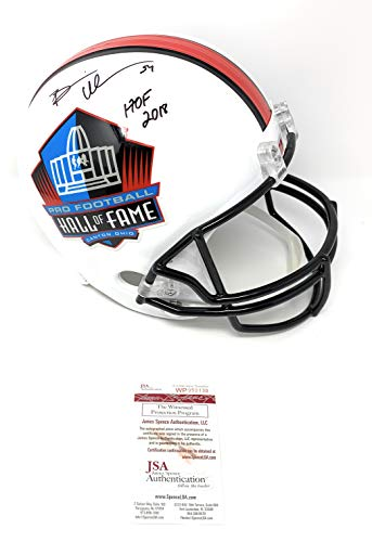 Brian Urlacher Chicago Bears Signed Autograph Hall Of Fame Full Size Helmet HOF Inscribed JSA Witnessed Certified