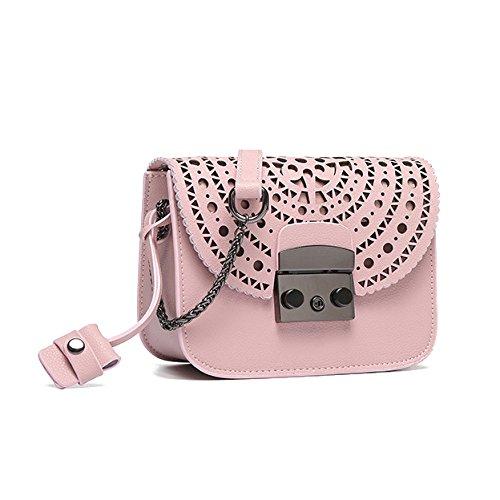 Soirée Cross En Body Cuir Designer Pink 90327 Chaîne Main PU à Sacs Mesdames Sac Pochette Femmes Bags Womens Avec 5OE6xwqv6
