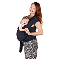 Baby Sling Carrier - Natural Cotton Nursing Moby Cover For Newborns Breastfee...