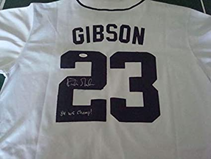 brand new d1a94 76a45 Kirk Gibson Autograph Detroit Tigers Mitchell Ness Jersey ...