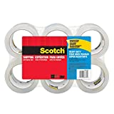 "Scotch Heavy Duty Shipping Packaging Tape, 3"" Core, 1.88"" x 54.6 Yards, 6-Rolls (3850-6)"