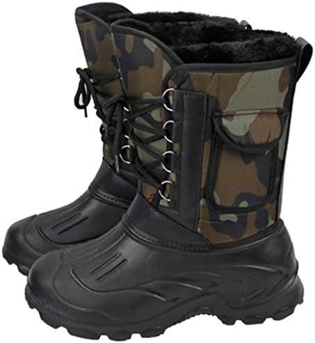 メンズ冬暖かい迷彩雪のブーツスチールスタッドは、防水オックスフォード布ストラップスタイルリムーバブルとベルベット並ん綿のブーツを肥厚ノンスリップ耐摩耗性ゴム底を象眼しました (色 : マルチカラー, サイズ : 26.5 CM)