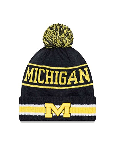 - Michigan Wolverines College Vintage Select Knit Pom Beanie - Navy, One Size
