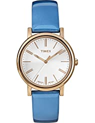 Timex Women's Modern Originals Grande Classics T2P330AW White and Blue Strap Watch