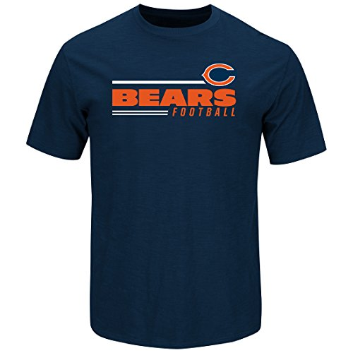 Scrimmage T-shirt - Chicago Bears Line of Scrimmage Navy T-shirt X-Large