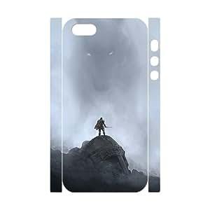 Custom de The Elder Scrolls V Skyrim Desgin Super Quality TPU Case Cover for 3d iPhone 5/5s