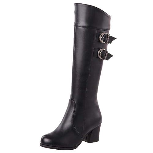 Kara Knee Height Womens Boot With Zipper | Boots, Wedge