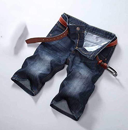 Cortos Bermudas Vaqueros Dril Pantalones Recto Pantalones Básicos De Dril Pantalones Hombres Rectos Dunkelblau Slim Algodón del del Delgados del Pierna Corte La De Cortos De Los Vaqueros Pantalones Fit wT6SwZq7n