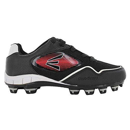 Easton Boys Black Baseball Cleats with Inserts (5) - Image 1