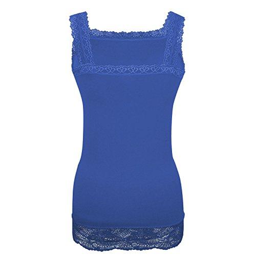 G&X Topstyle - Camiseta sin mangas - para mujer Azul