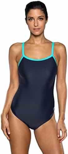 a70db4f5ac ATTRACO Women's Sports One Piece Swimsuit Racerback Athletic Training  Swimwear