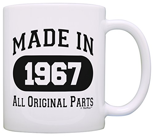 50th-Birthday-Gift-Made-1967-50th-Birthday-Party-Decorations-Gift-Coffee-Mug-Tea-Cup-White