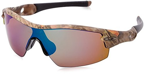 Oakley Polarized Radar Pitch Angleing Specific Sunglasses - Woodland Camo/Shallow Blue Polarized