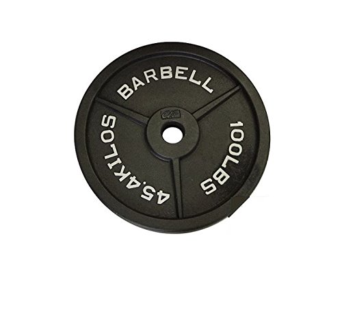CAP Barbell Olympic 2-Inch Weight Plate, Gray, Single, 100 lbs