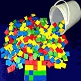 Bucket of Color Tiles (Set of 400 in 4 colors), Case of 3