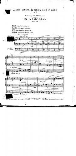 Read Online 12 Pièces - 1. In Memoriam (Titanic) pdf