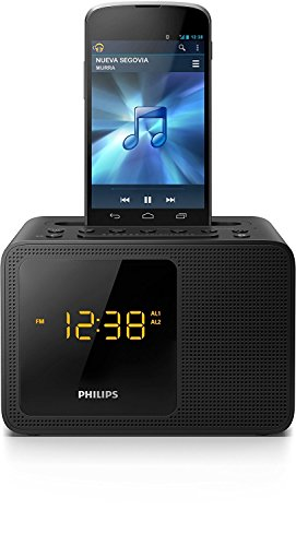 Philips Black Dual Alarm Bluetooth Clock Radio (Philips Clock Radio)