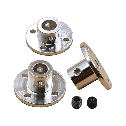 Rigid Flange Guide Shaft Coupler Motor Connector Motor Guide Shaft Coupler Fittings DIY Model Accessory High Hardness Metal Axis Bearing Luckycivia 4 Pack 8mm//0.31 inch Flange Shaft Coupling