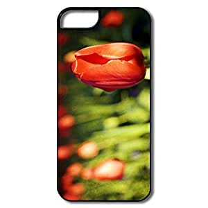 Case For Ipod Touch 5 Cover, Red Tulip Bud White/black Covers Case For Ipod Touch 5 Cover