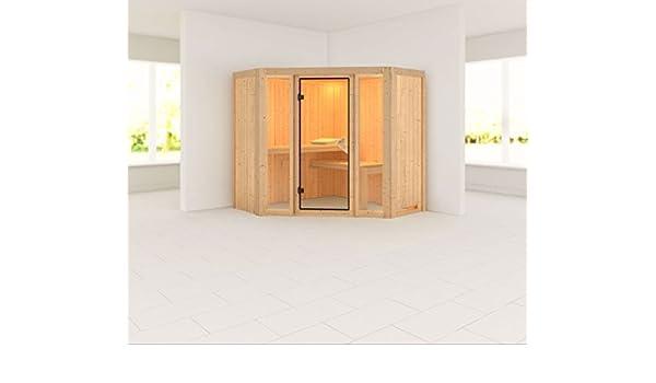 Flora 1 - Karibu sauna sin horno - sin techo Corona de-: Amazon.es: Bricolaje y herramientas