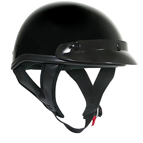 Dot Motorcycle Outlaw - Outlaw Motorcycle Biker DOT Approved Half Helmet Glossy Black Large