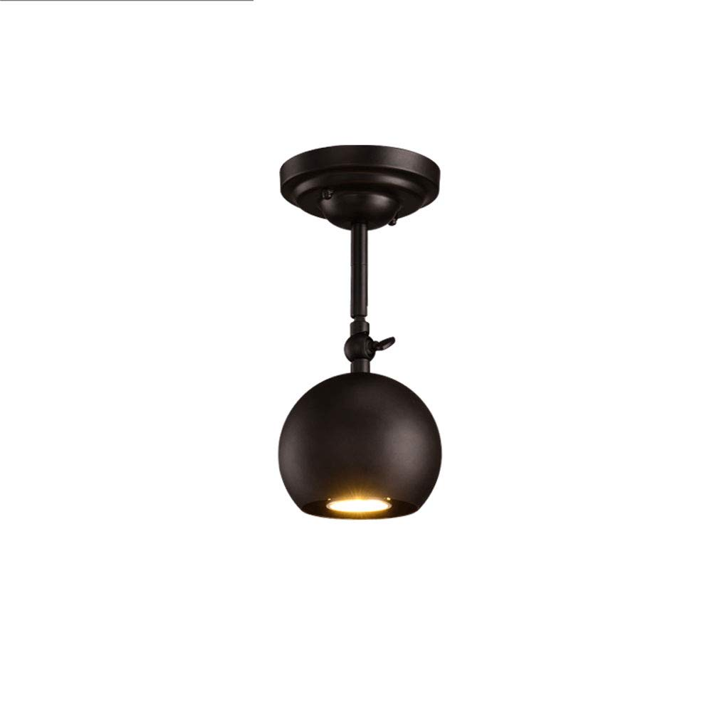 Mei Xu Track Light - Industrial Vintage Bar Table LED Spotlights - Black - Single - 12cm Track Lamp