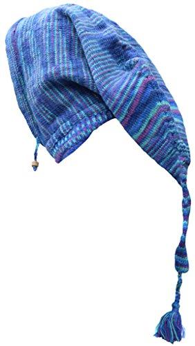 Tie tejer bufanda Blue Dye sombrero de Pixie lana de de larga Poco Katmandú de polar con nbsp;Braga de de campana nbsp;– cuello forro 10wS4