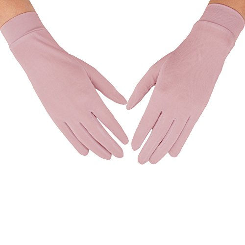 MAYMII Women's 100% Pure Mulberry Silk Gloves Liner Glove Inner Ski Bike Cycle Gloves - for Driving, Fashion, Sun and Cold Protection - Lightweight Silk Gloves