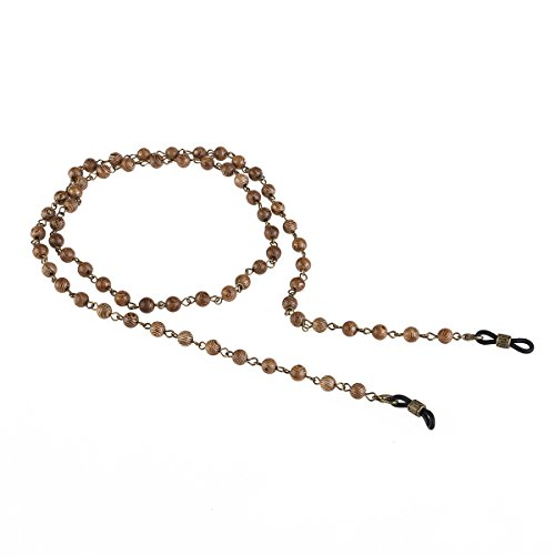BESTOYARD Eyeglass Chain Wood Round Bead Eyeglass Sunglass Chain Neck Strap Cord Holder ()