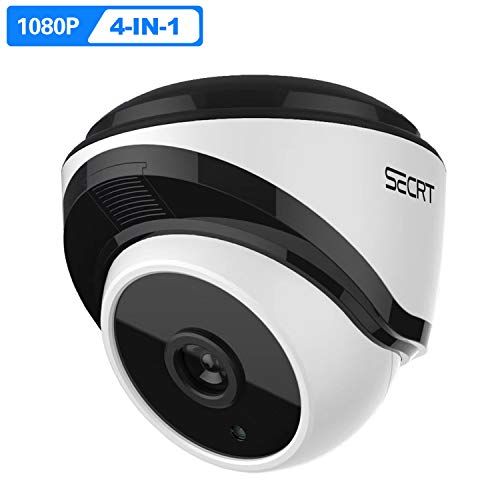 HD 1080P Outdoor Security Dome Camera, 2.0 Megapixel Sony Sensor Hybrid 4-in-1 HD-CVI/TVI/AHD/Analog Surveillance Waterproof Indoor 36 LEDs 82ft Night Vision 3.6mm Fixed Lens Wired