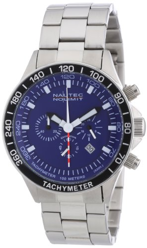 Nautec No Limit Men's Quartz Watch Racing 2 RS2 QZ2/STSTSTBL with Metal Strap