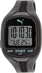 Puma Watches Mens Black Rubber Digital Dial Watch