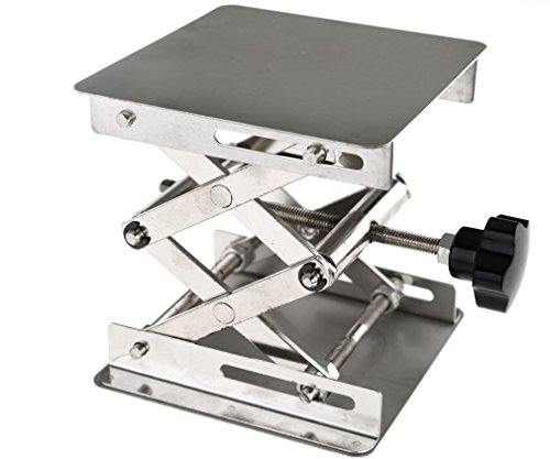100 x 100mm Stainless Steel Lab Stand Table Scissor Lift laboratory Jiffy Jack (Jacks Trader)