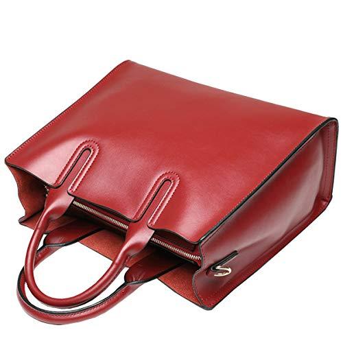 En Messenger à Cuir à Rouge Main Simple Cuir Grand Napa HJLY Bag Grande 2018 Leather Sac Vin Sac En Sac Capacité Bandoulière Dames t6Iq4Hw