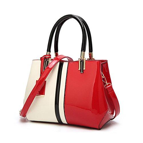 Red Bandoulière Taille Onesize Red Capacité Multicolore Sac Couture À Avec Main couleur Femme Grande Pour 6gqnPwO7zx