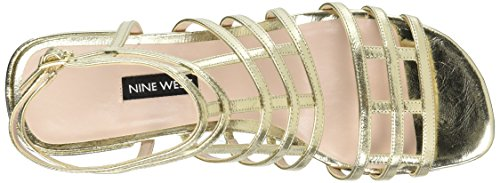 Nine Metallic Light Gold Women West Xerxes Heeled Sandal wq4Ha