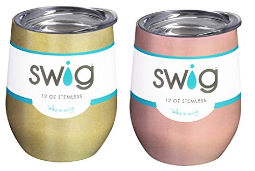 Occasionally Made O-SW-9-BK Swig Wine Cup, 12oz (Gold & Rose Gold) by Occasionally Made