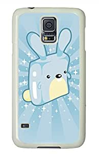 Blue Rabbit White Hard Case Cover Skin For Samsung Galaxy S5 I9600