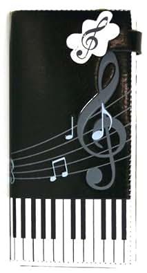 Vinyl Music Notes Wallet (Black)
