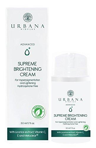 - URBANA BIOPLUS Advanced Supreme Brightening Face Cream, Vitamin C Daily Facial Moisturizer Lightening Hyperpigmentation Anti Aging Wrinkles Fine Lines Firming Skincare Beauty Women, 50 ml / 1.7 fl oz