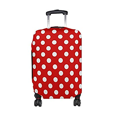 U LIFE Vintage Red Polka Dots Luggage Suitcase Cover Protector for Travel  good b0a4abc2c9c98