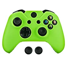Surge Xbox One & One S Controller Skin & Thumb Stick Grips, Green, Xbox One