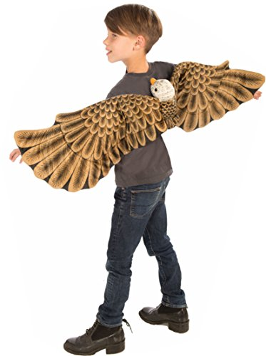Bald Woman Costume (Forum Plush Bald Eagle Child Wings Costume, Brown)